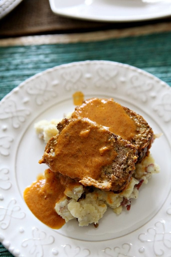 Slow Cooker Italian Meatloaf // The Speckled Palate