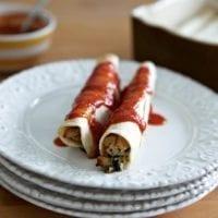 Monday's Dinner: Chicken and Zucchini Enchiladas