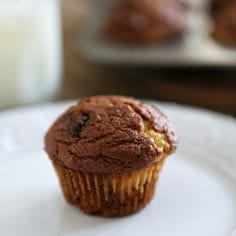 Pumpkin Muffins with Cream Cheese and Nutella Swirl // The Speckled Palate