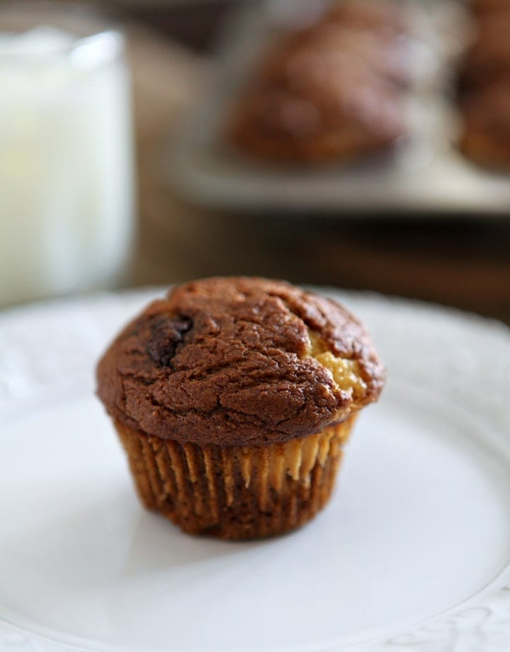 It's almost fall, so let's celebrate the season with these delightful Pumpkin Muffins with Cream Cheese and Nutella Swirl. Fluffy, decadent pumpkin muffins are filled with a cream cheese mixture and a dollop of Nutella. What's not to love?