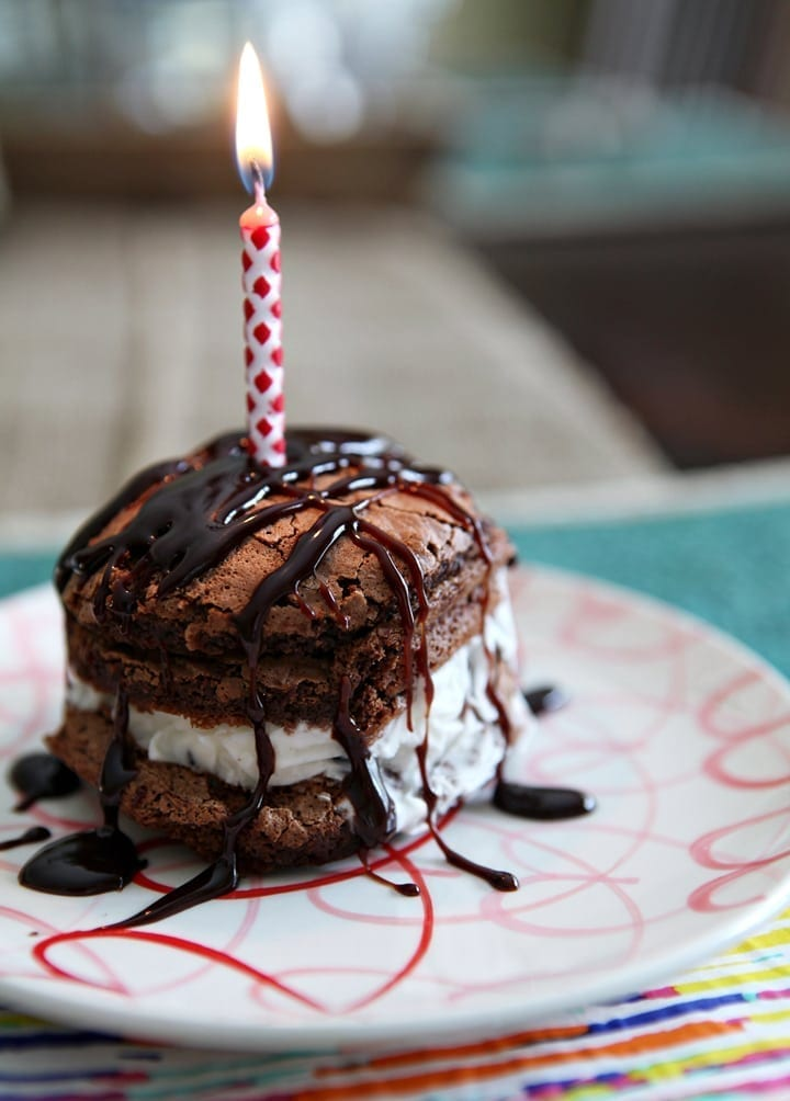 Birthday Cake Images Small : Mini Stacked Ice Cream Birthday Cakes // The Speckled Palate
