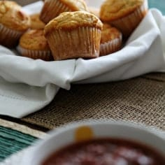 Honey Jalapeño Cornbread Muffins// Erin Skinner from The Speckled Palate for My Cooking Spot