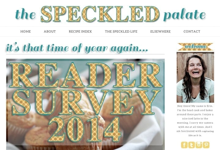 TSP Reader Survey: 2014 // The Speckled Palate