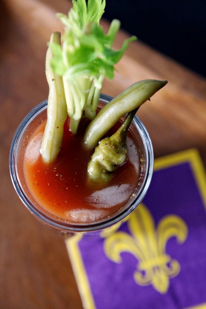 Start off gameday with this twist on a brunch classic: The Bloody Maria. The Maria is a sister to the Bloody Mary, and you simply swap the vodka with tequila. Spicy and a wonderful kick-start to any tailgate, the Bloody Maria can be dressed however you like it -- with celery, pickled green beans, jalapeños and even bacon!
