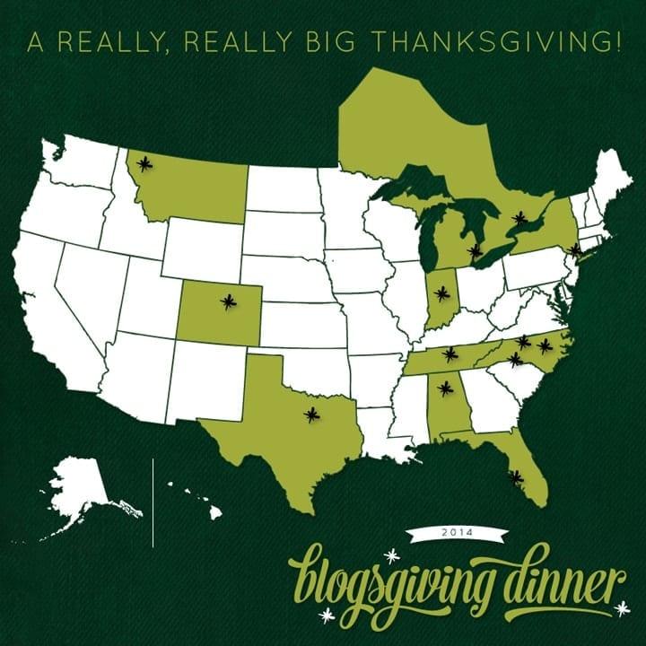 Blogsgiving Progressive Dinner 2014 Blogger Locations // The Speckled Palate