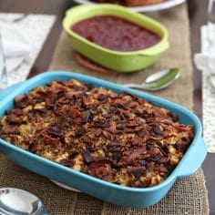 Friendsgiving: Bacon and Baguette Stuffing // The Speckled Palate