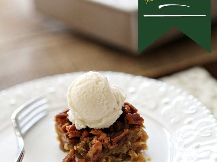 Slightly sweet and decadent pecan pie is spiked with bourbon over a buttery crust. Drunken Pecan Pie Bars are an amazing way to end your Thanksgiving feast.