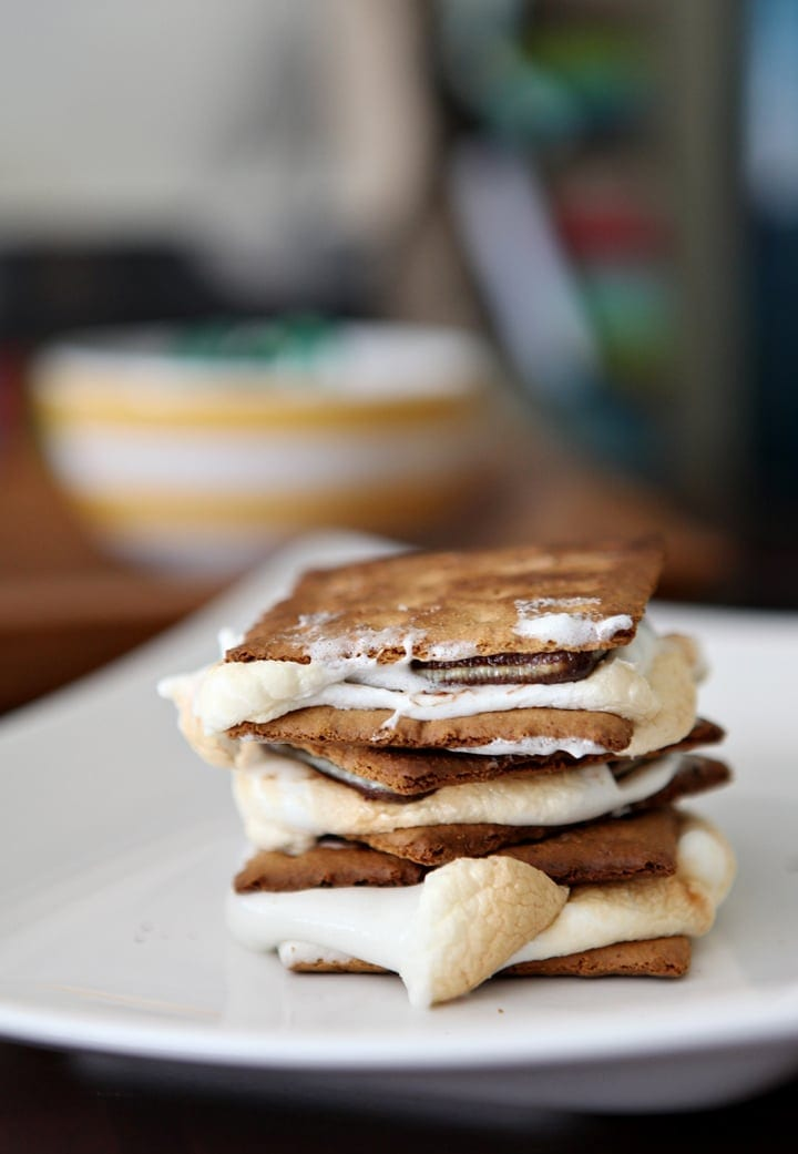 Toasted smores... made indoors! Allow your guests to roast their own marshmallows, or bake these treats in advance for a stunning shower dessert that's delicious and unique!
