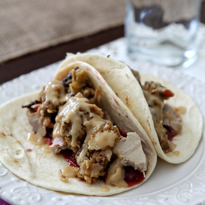 Thanksgiving Tacos // Erin Skinner from The Speckled Palate for My Cooking Spot