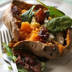 Four Layer Baked Sweet Potato // Erin Skinner of The Speckled Palate for My Cooking Spot