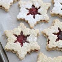 Dessert Inspiration: Raspberry Linzer Snowflake Cookies