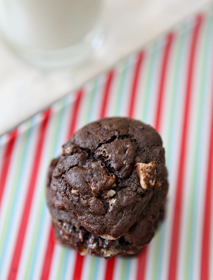 A spin on the Southern pie, but in cookie form! These Mississippi Mud Cookies are studded with pecans and marshmallows and perfect for the chocolate lover in your life.