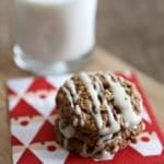 Christmas Cookie Week 2014: Oatmeal Cinnamon Cookies with Maple Cream Cheese Glaze