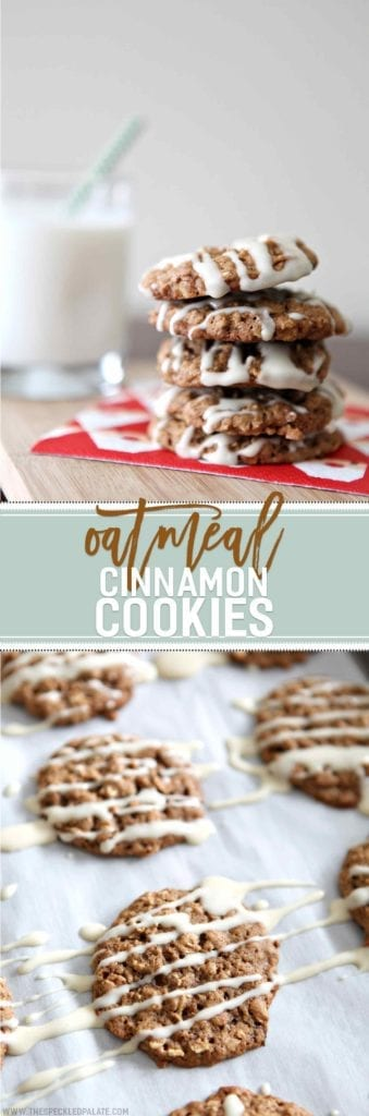 Oatmeal Cinnamon Cookies with Maple Cream Cheese Glaze // The Speckled ...