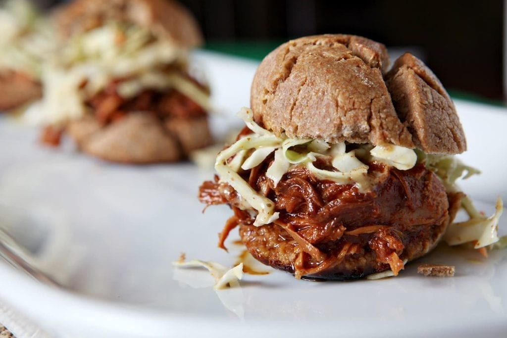Slow Cooker BBQ Chicken Sandwiches with Mustard Coleslaw » The ...