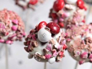 M&M's® Red Velvet Brownie Pops