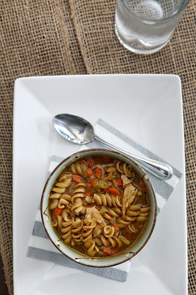 Quick and Easy Chicken Noodle Soup // @speckledpalate