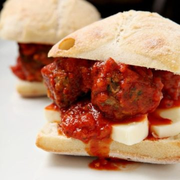 Turkey Spinach Meatball Subs // @speckledpalate