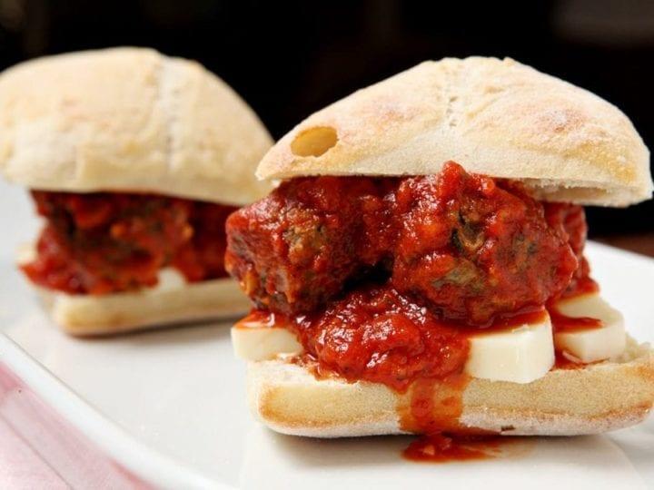 Turkey Spinach Meatball Subs