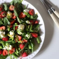 Spring Pea, Asparagus and Strawberry Salad // Laura's Mess for @speckledpalate