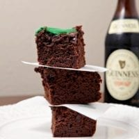 Guinness Brownies with Cream Cheese Frosting Drizzle