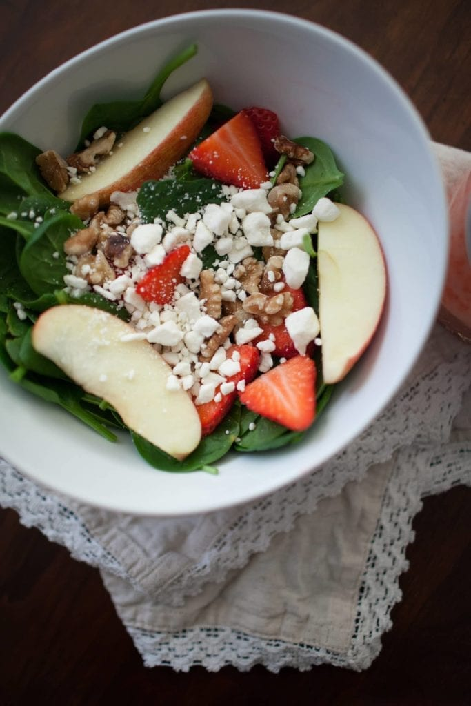Strawberry Vinaigrette Spinach Salad // @madisonlynn35 for @speckledpalate