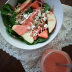 Strawberry Vinaigrette Spinach Salad {Guest Post from The Wetherills Say I Do}