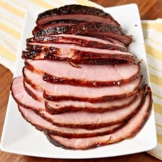 A blast from the past, Honey Ham makes a delightful Easter lunch centerpiece. As the ham bakes, the exterior crisps up and the glaze thickens, sweetening the meat from the outside in. When the ham comes out of the oven, it's all out divine and the perfect
