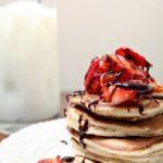 Strawberry Dark Chocolate Pancakes