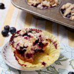 Dairy-Free Blueberry Lemon Crumble Muffins