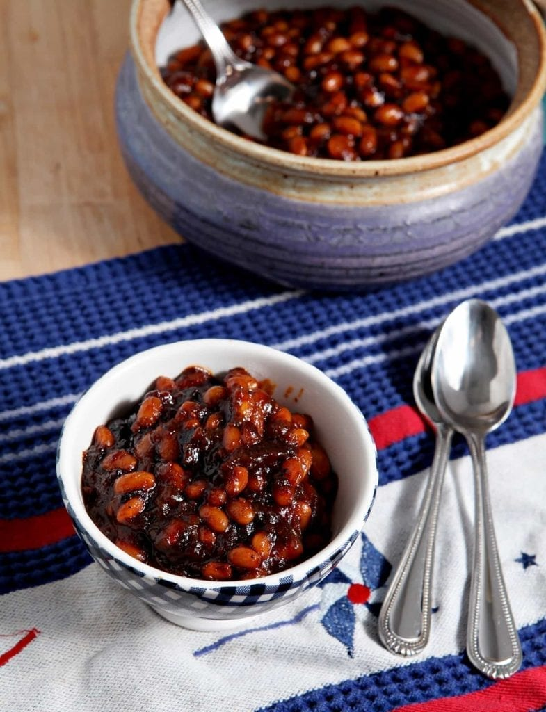 Sweetened with honey and barbecue sauce, spiced with Bloody Mary Mix and Sriracha, these Sriracha Baked Beans are a tasty side dish for any summertime get-together.
