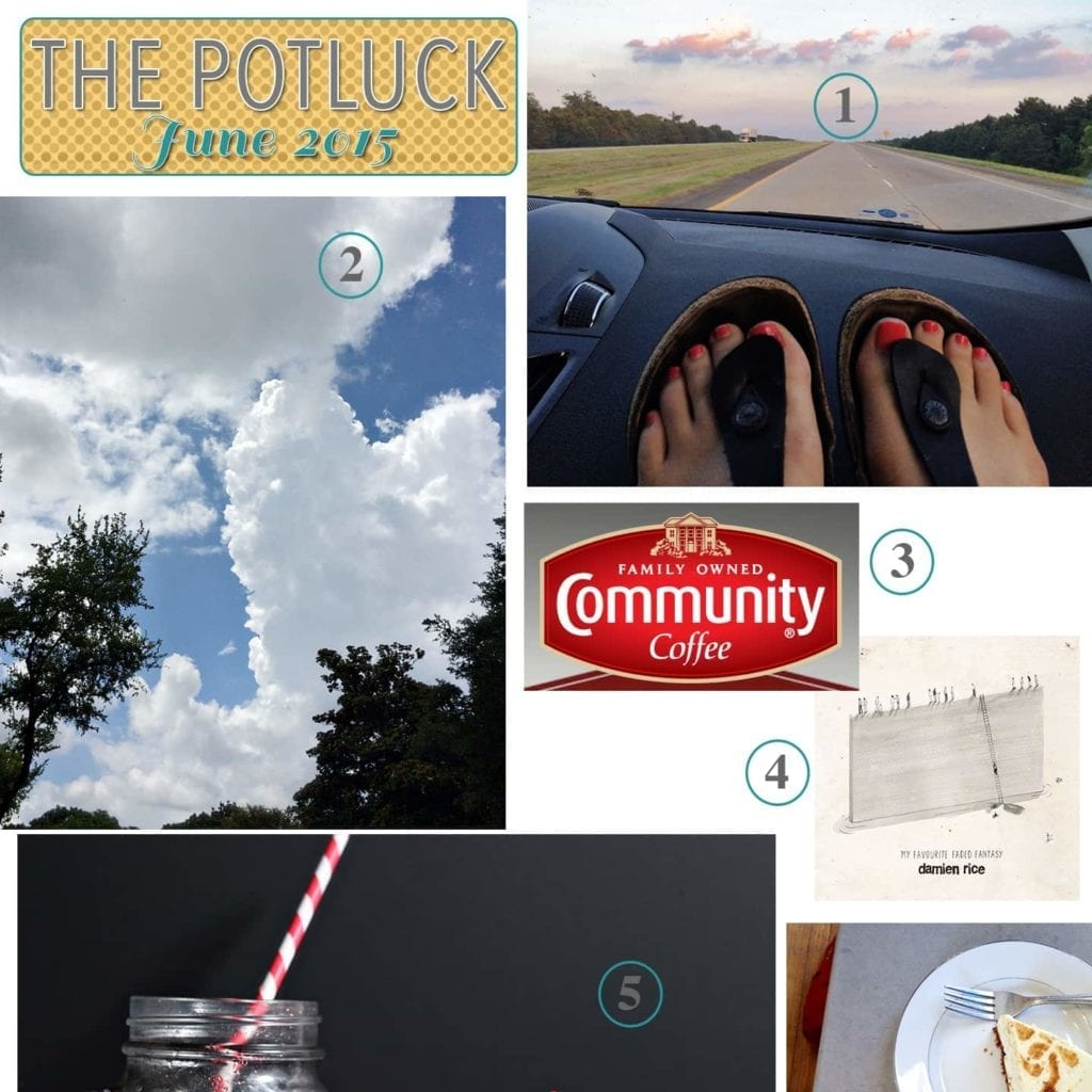 The Potluck: June 2015 | Continuing the monthly tradition, I bring y'all The Potluck: June 2015, detailing my monthly love list. It includes road trips, coffee, a TV show and more!