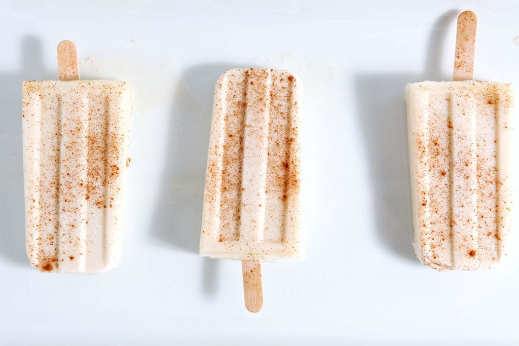 Vegan Spiced Rum Horchata Pops // The Speckled Palate