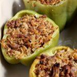 Turkey Jambalaya Stuffed Bell Peppers