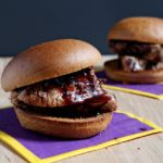 Pork Tenderloin Sliders with Red Wine Reduction Sauce