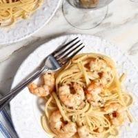 Thursday's Dinner:Lemon Shrimp Pasta