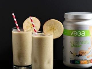 Vegan Vanilla Apple Pie Smoothie with Vega Essentials