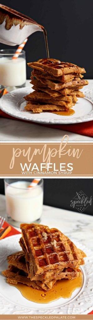 Pumpkin Waffles Recipe | Waffle Recipe | Fall Waffle | Fall Baking | Simple Baking | Pumpkin Recipe | Pumpkin Breakfast | Brunch | Breakfast | Homemade Waffles | Fall Breakfast