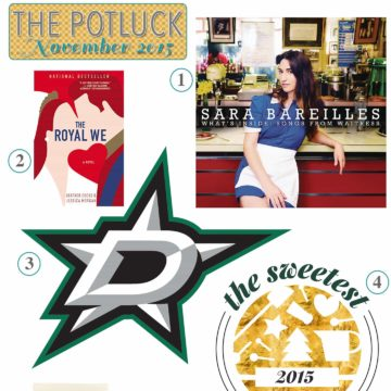 The Potluck: November 2015 | Continuing the monthly tradition, I bring y'all The Potluck: November 2015, detailing my monthly love list. It includes cookies, sports, a book and more!