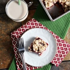 Leftover cranberries? No worries! These dairy-free Cranberry Crumb Bars are a great way to celebrate the sweetness of cranberry in cookie bar form during the holiday season.