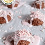 Peppermint Brownie Drop Cookies