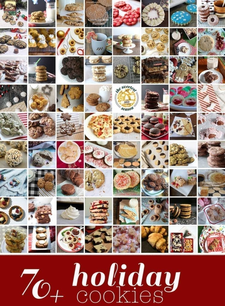 The Sweetest Season Cookie Exchange was a resounding success... and today, we have70+ HolidayCookies to bake this season. You know, if you're looking for an excuse or something special for Santa.