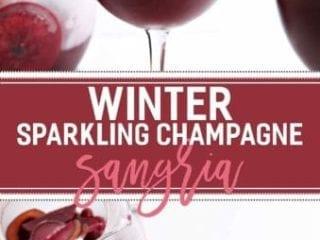 Winter Sparkling Champagne Sangria