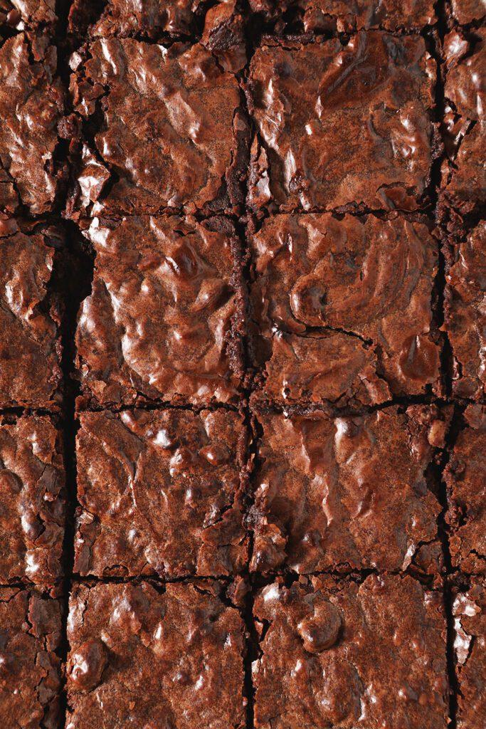 Sliced Bourbon Pecan Brownies