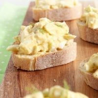 Easter Leftover Idea: Deviled Egg Bruschetta