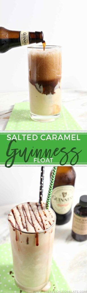 Move over, Guinness Float! There is a new Guinness dessert in town! Instead of using plain vanilla ice cream in your Guinness Float this St. Patrick's Day, consider adding salted caramel ice cream instead for a sweet and salty twist. This Salted Caramel Guinness Float is guaranteed to be a favorite adult dessert!