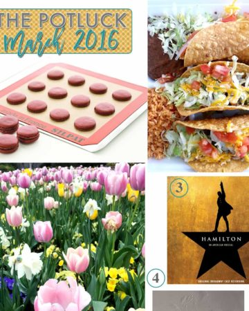 Continuing the monthly tradition, The Speckled Palate's The Potluck: March 2016 includes a favorite food, a new favorite soundtrack, springtime blooms, a baking accessory and more! Swing by the blog today to get a full list of the things I adored during the month of March.