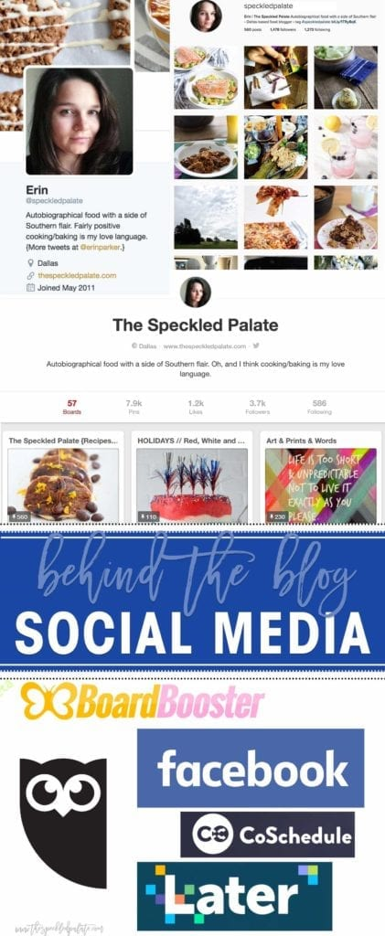 Learn a little more about The Speckled Palate in this year-long Behind The Blog Series! For the month of May, we are discussing social media. I am sharing my favorite social media platforms, as well as tips and tricks for them. I also share my favorite social media tools that help me stay active on multiple channels!