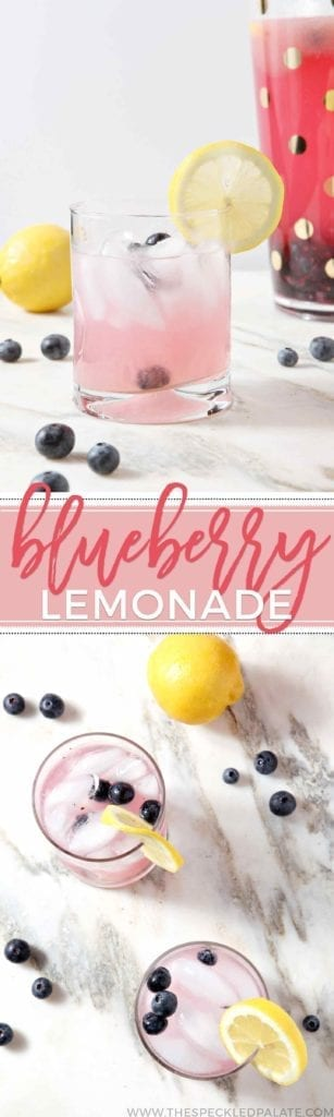 Cool down with a tall glass of this large-batch Blueberry Lemonade, which strikes the perfect balance of sweet and tart, this summer. #drink #summer #recipe