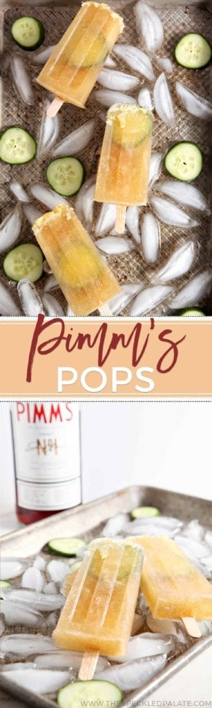 Pimm's Cups are refreshing summertime cocktails that go down easy on hot days. Why not take a classic Pimm's Cup... and transform it into a popsicle? #popsicleweek #recipe